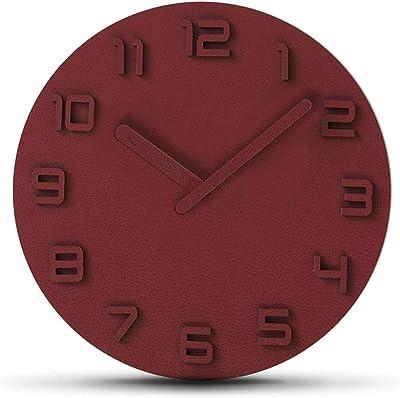 DCDC Modern Wall Clock, Silent Non-tick Quartz Decorative Battery Operation Wall Clock Living