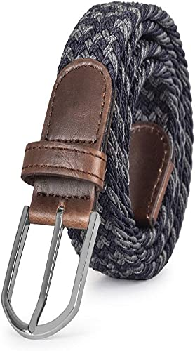 MadeGuy™ Braided Belts, Elastic Woven Canvas Fabric, High Quality Stretch material blend for fit, flexibility and strength, Perfect Gift Accessory in Multi Colors, 100% Satisfaction Guaranteed product image