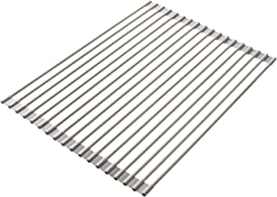 Bellemain Over-the-Sink Roll-Up Dish Drying Rack 18 inch, Multi-Use Drying/Draining/Trivet