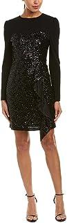 Nicole Miller Women's Solid Sequin L/S Combo Dress