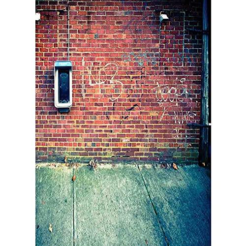 Accesorios de fotografía de Vinilo, Tela de Fondo con Tema de Pared de ladrillo Retro, Cortina de fotografía de Estudio A7 10x10ft / 3x3m