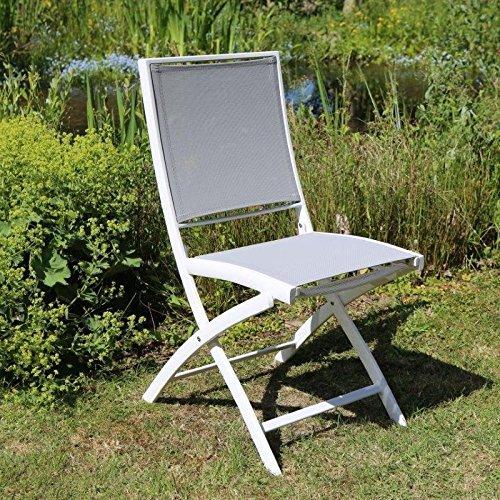 Destiny Sessel Daytona Beach Klappstuhl Aluminium Textilene Weiß Gartensessel