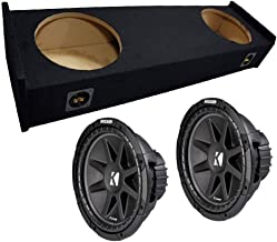 """Compatible with Ford F-150 97-99 Extended Cab Truck Dual 12"""" Kicker C12 Subwoofer Sub Box Enclosure 600 Watts Peak"""