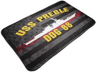 XIAOYANdi USS Preble DDG-88 Door Mat Non-Slip Bath Mat Kitchen Floor Carpet Mat