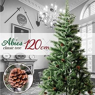 クリスマスツリー 120㎝ おしゃれ 北欧 松ぼっくり付き ドイツトウヒツリー Abies アビエス