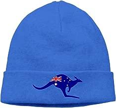 WellShopping Kangaroo Australia Flag Printed Plain Skullies Beanie toboggan Hat Cap Unisex Vintage Hats