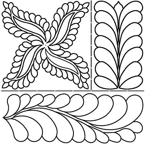 Sten Quelle 17x 20C. L. Fab Federn Quilt Schablonen von Pepper Cory