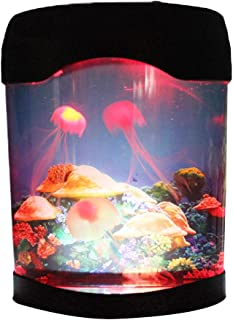 Jellyfish Lamp Aquarium Simulation Background Glowing Night Light Artificial Jellyfish Swimming Tank Color Changing Mood Lighting Home Decoration Birthday Gift for Kids