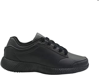 KazarMax Women's Faux Leather Black Office/Running Shoes