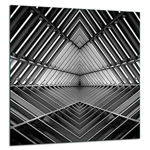 TMK - Panel de vidrio templado antisalpicaduras para la pared de la cocina, 60 x 65 cm, con cinta adhesiva, color gris