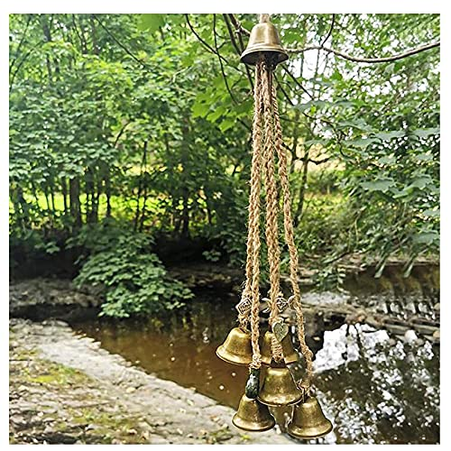 Witches Bells, Door Protection Charm, Altar Decor, Magic Witchcraft Supplies, for Car for Protection Witchcraft Wicca Supplies Wind Chimes Celtic Door Bells for Porch, Garden, Window Decoration (65mm)