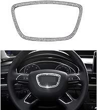 Senauto Bling Steering Wheel Center Cover Trim Decoration Fit for Audi A3 A4L A6L Q3 Q5 Q7