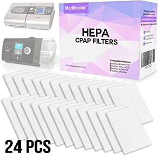 CPAP HEPA Filters 24 Packs - ONE Year Supply Premium Universal Filters for Allergy Relief - Supplies for AirSense 10 - AirCurve 10 - S9 - AirStart Series CPAP Machines-Medihealer Replacement Filters