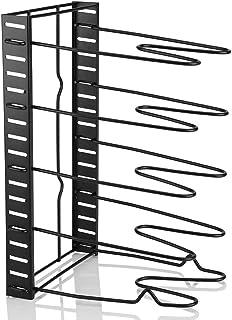 Pot Organizer - Soporte de Soporte para Utensilios de Cocina de Almacenamiento múltiple en Rack Organizador para Tapa de sartén Poteded
