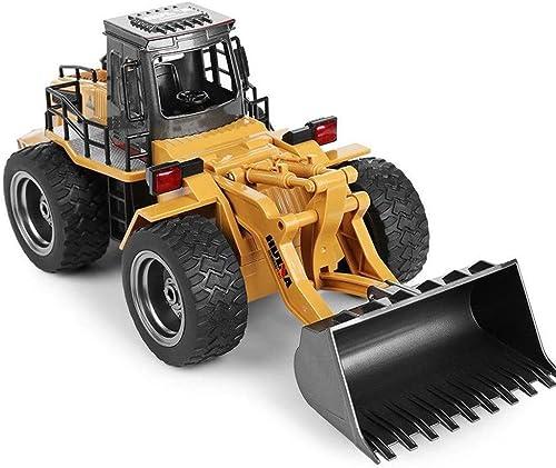 SHZJ Alliage RC Bulldozer Truck avec VéHicule De Construction D'IngéNierie 1 14 10CH Jouet RTR De Chargeur Frontal pour Enfants Cadeaux Jeu Adulte