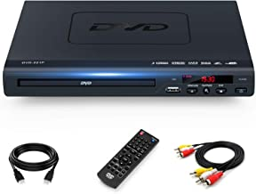 DVD Players for TV with HDMI Output, Full HD 1080p Upscaling DVD Player for Home, Plays All Formats & Regions, USB Port, M...