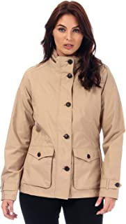 Timberland Womens Short Parka Jacket in Sand.