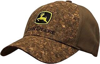 John Deere Bark Front Hat with Industrial Logo Brown