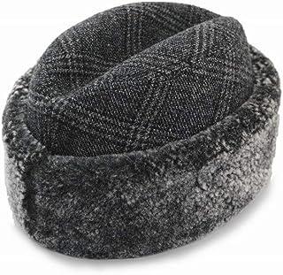 (テシ)Tesi ボアトーク帽 T1811 レディース メンズ 婦人 紳士 ユニセックス ロシアン帽 ロシア帽 グレンチェック柄 防寒帽 耳あて付き 耳当て メリノウール クリスマス 直輸入 イタリア製 ネット通販 秋冬