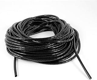 uxcell 配線チューブ PEポリエチレンスパイラルケーブルワイヤラップチューブ コンピューターマネージャ 長さ19メートル ブラック
