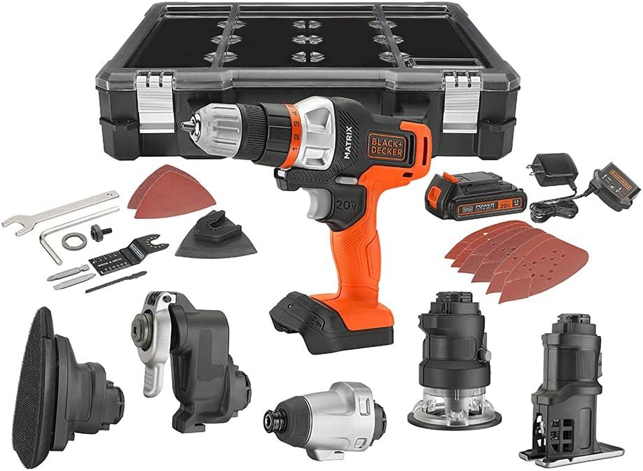 BLACK+DECKER 6-Tool Cordless Matrix Combo Kit $139  Coupon