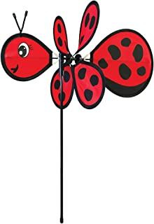 In the Breeze Baby Bug Ladybug Wind Spinner - Silk Screened Details - Fun Spinner for your Flower Pot's, Garden and Yard