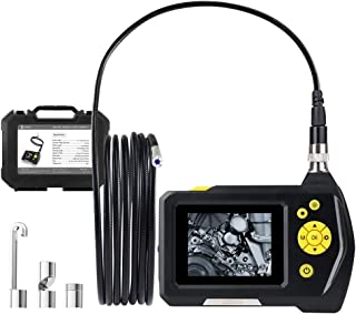 Auzev Handheld Digital Borescope Endoscope tube1M flexible digital Inspection camera with LCD screen and video recording 2.31 inch color LCD 8 levels of adjustable brightness and 8 mm diameter