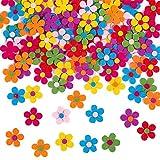 Fiore di Feltro in Tessuto, 100 Pcs Fiori in Feltro per Fai da Te, Feltri Fiori Abbellimenti, Fiori di Feltro per Decorazioni, per la Decorazione Artigianale in Feltro Fai Da Te, Colori Assortiti