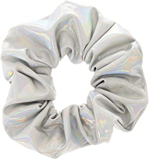 Claire's Girl's Holographic Hair Scrunchie - Silver