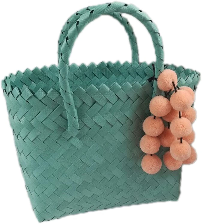 Kimiyar Weave Basket Handmade Beach Summer Rattan Handbags Women Fashion Messenger Causal Shoulder Tote