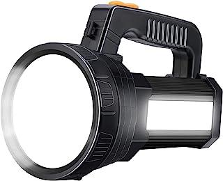 Super Bright LED Handheld Spotlight Flashlight Rechargeable 9600mAh 6000 Lumens Long Lasting Spot Light CREE Waterproof Ta...