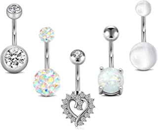 14G Belly Button Rings Surgical StainlessSteel Belly Rings for Women CZ Navel Ring Belly..