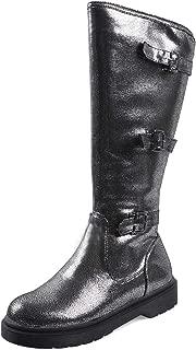 KemeKiss Women Comfort Knee High Boots Low Heel Riding