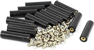 uxcell 15 Pcs M3 Brass Insert Thread 8x30mm Insulated Standoff Terminals