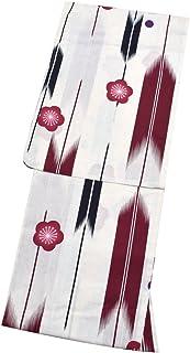 [ 京都きもの町 ] 女性 浴衣単品 矢絣縞に梅 綿浴衣 プレタ浴衣 お仕立て上がり浴衣 花火大会 夏デートに フリー 縞