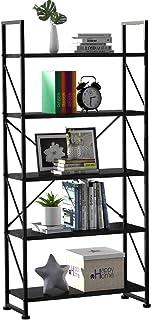 YITAHOME 5 Tiers Bookshelf, Artsy Modern Bookcase, Book Rack, Storage Rack Shelves Books Holder Organizer for Books/Movies...