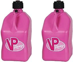 2 Pack VP 5 Gallon Square Pink Racing Utility Jugs
