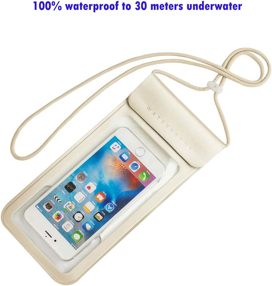 Baitoo Waterproof Phone Pouch,IPX8 Waterproof Phone Case Compatible for iPhone 12/12 Pro Max/11/11 Pro/SE/Xs Max/XR/8P/7 Galaxy up to 7