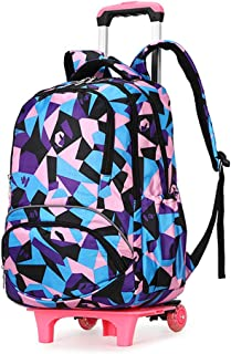 Multifunctional Student Bag Large Capacity Backpack Pulley Trolley Bag Breathable And Wear-Resistant