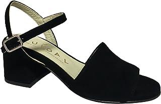 OUIGAL Sandalo Donna Aperta Nero MOD Posie 100% camoscio Made in Italy