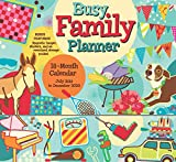 Busy Family Planner 2020 Calendar Planner Organizer with Magnetic Hanger, Storage Pocket and Stickers: 18-Month: July 2019  December 2020