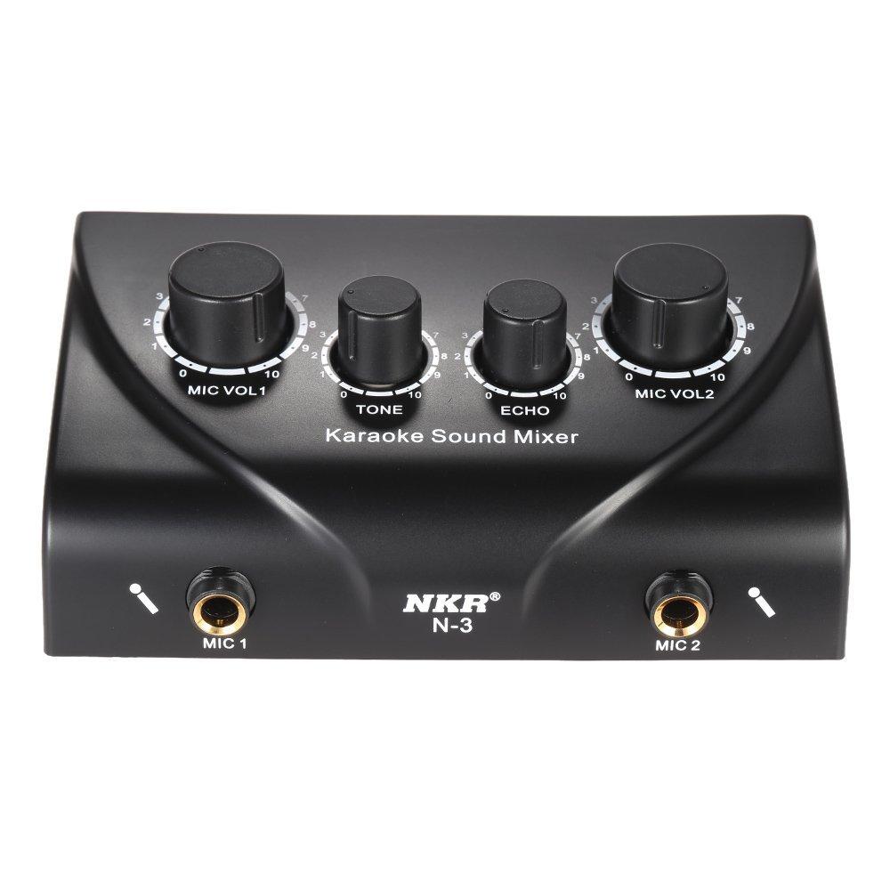 ammoon Karaoke Sound Mixer Inputs