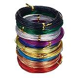 Pandahall Elite-Lote de 10rollos de mezcla de colores aluminio 15-20calibre cu...