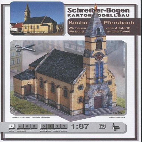 Aue Verlag - Kit de Modelo de Iglesia de Pfersbach (25x 13x 26cm)