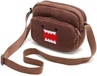 Cute Cartoon Domo Kun Plush Small Shoulder Messenger Bag Mini Crossbody Bags for Women Phone Bag Girls Kids Coin Purse Wal...