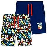 Disney Pantalon Chandal Niño, Pantalones Cortos De Mickey Mouse, Bermudas Niño De Algodon, Ropa Niño para Regalo (Azul/Multi, 5-6 años)