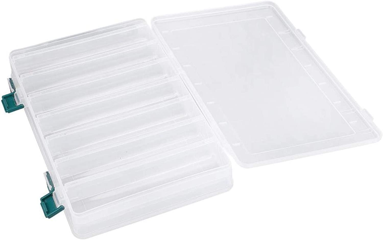 CUTULAMO Double Super sale Side Plastic Fishing Baits Box Clear C Soldering Frosting