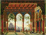 Poster 40 x 30 cm: Bühnenbild für die Oper Ruslan und