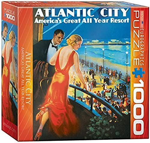 Eurographics Atlantic City  America's Great Year Round Resort 1000 Piece Jigsaw Puzzle (petit box) by EuroGraphics
