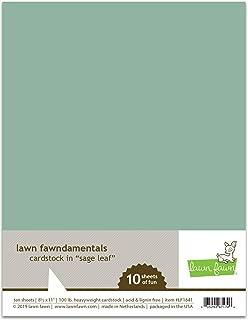 Lawn Fawn 100lb Heavyweight Cardstock - Sage Leaf LF1841